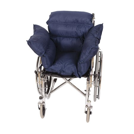 DMI Wheelchair Comfort Pillow Cushion for Pressure Relief, Recliner Seat Back Cushion for Seniors, Wheelchair Pillows for the Elderly, Pressure Reducing Cushion, Wheelchair Padding, Navy