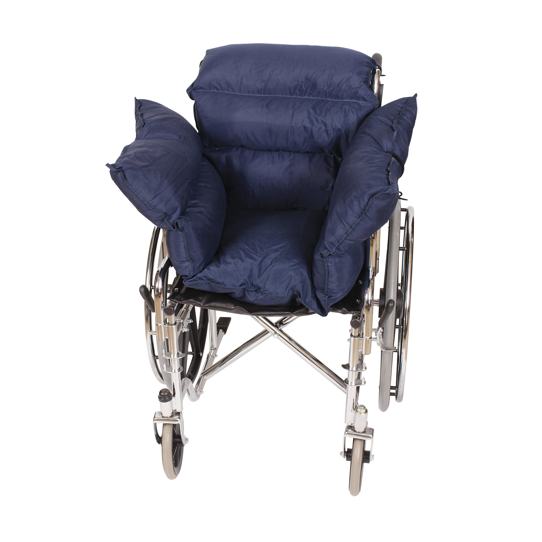 DMI Wheelchair Comfort Pillow Cushion for Pressure Relief, Recliner Seat Back Cushion for Seniors, Wheelchair Pillows for the Elderly, Pressure Reducing Cushion, Wheelchair Padding, Navy