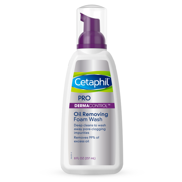 Cetaphil Pro Dermacontrol Oil Removing Foam Wash Face Wash For Oily Skin 8 Oz Walmart Com Walmart Com