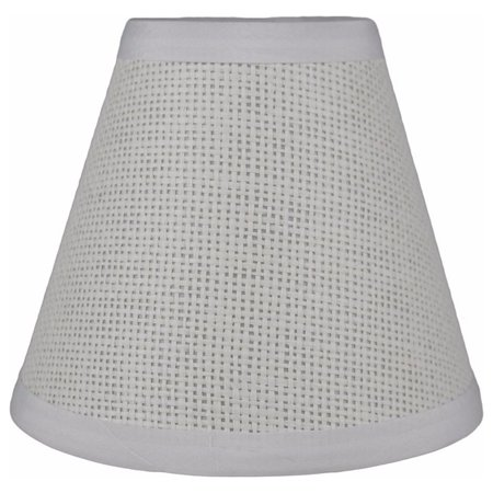 """Urbanest Woven Paper Chandelier Lamp Shade, 3x6x5"""", White"""