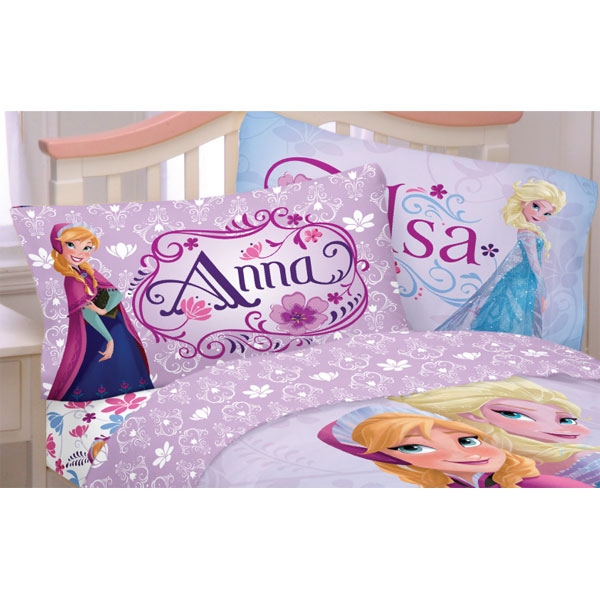Franco Manufacturing 12606182 Disney Frozen Bed Sheet Set Elsa Anna Celebrate Love Bedding Accessories
