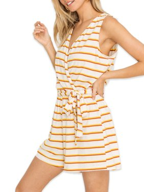 Lush Clothing Stripe Romper
