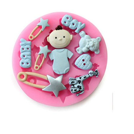 - Silicone Fondant Cakes Chocolate Molds Lovely Lollipop Baby Letters and Bear Theme Options Specification:2 baby giraffe