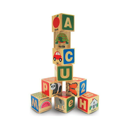 Children's Melissa & Doug ABC/123 Wooden Blocks