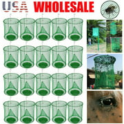 Reusable Ranch Fly Catcher Killer Cage Net Trap Insert Bug Pest Hanging Catcher