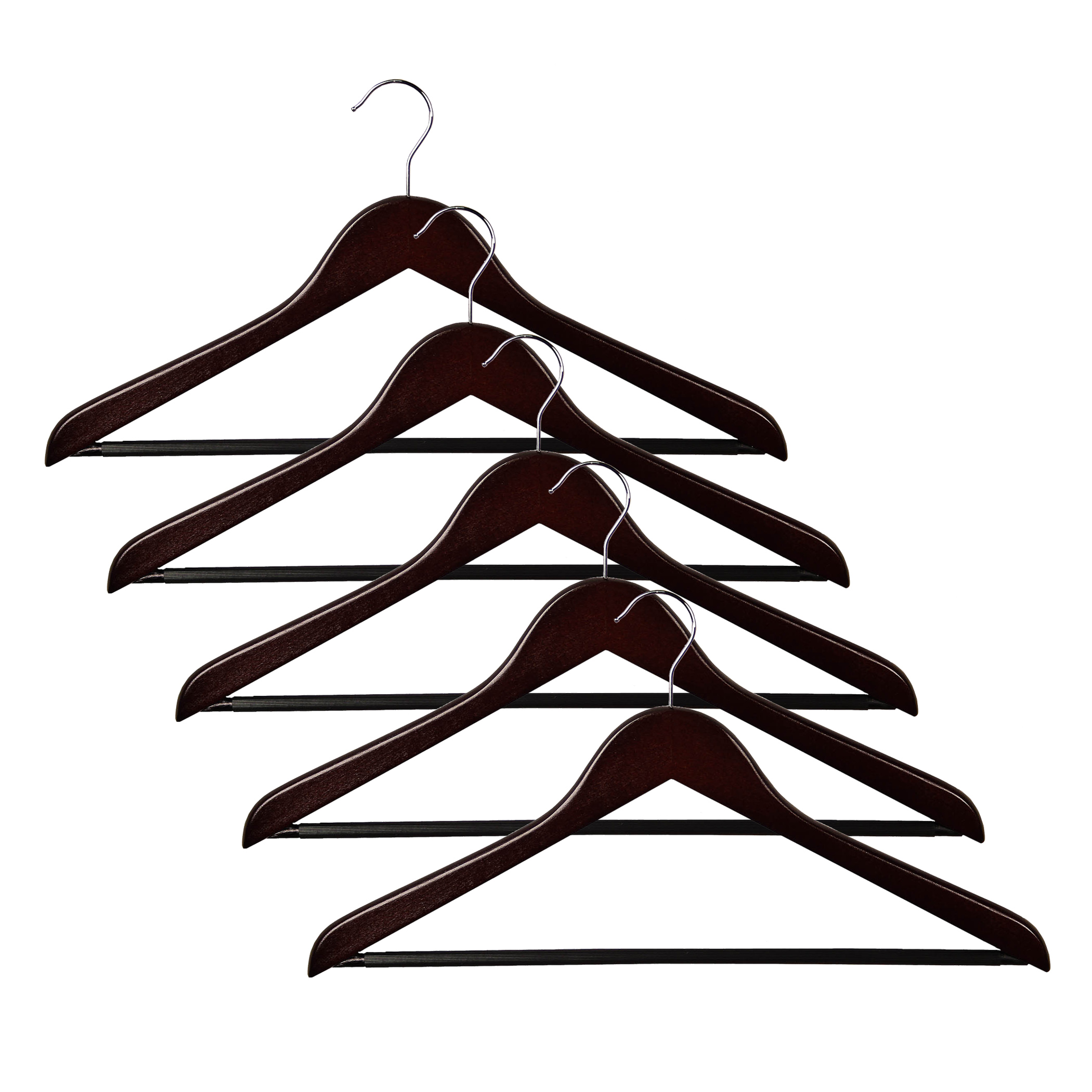Promo/Dark Walnut Suit Hanger set of 5