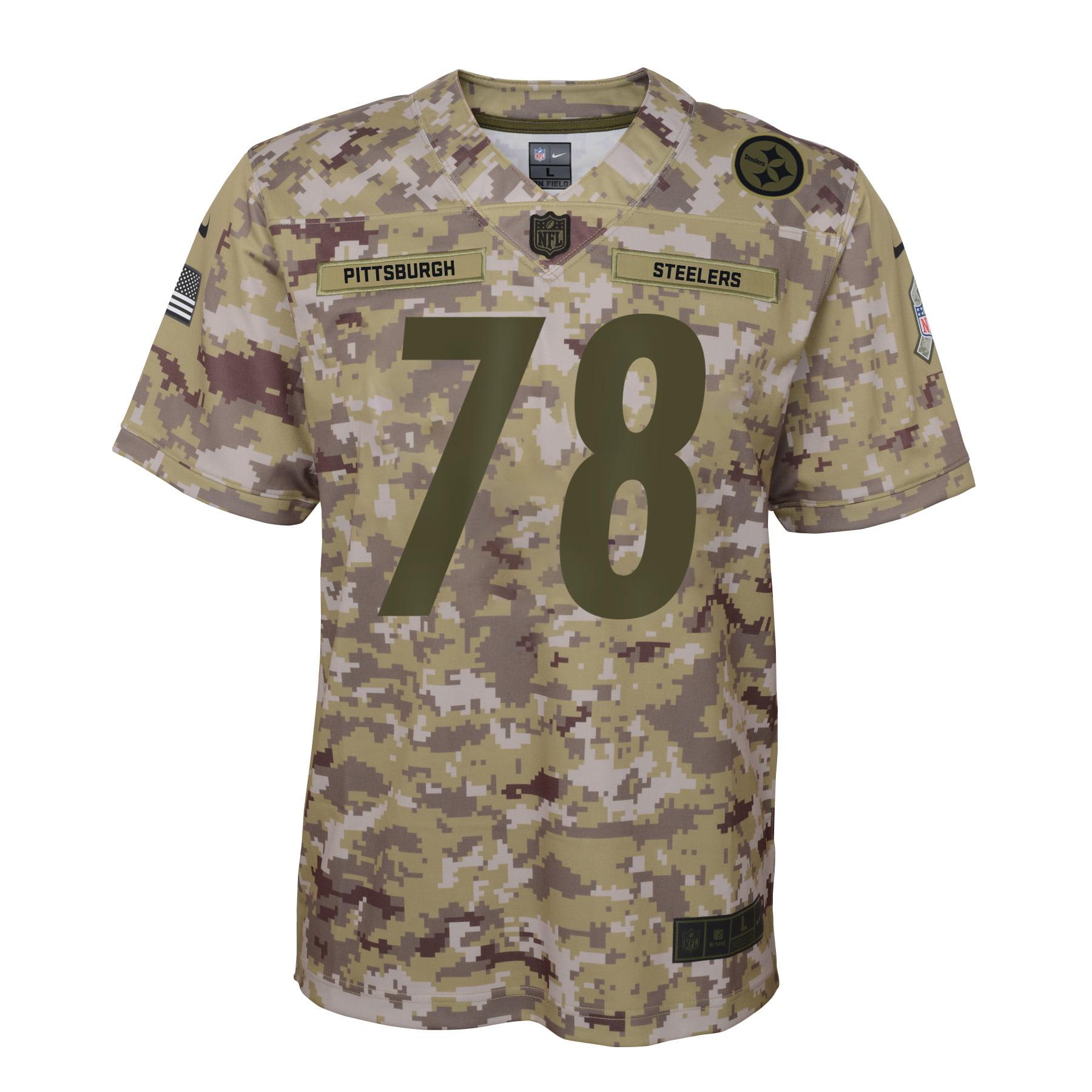 the latest 88933 89b01 Alejandro Villanueva Pittsburgh Steelers Nike Youth Salute to Service Game  Jersey - Camo