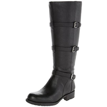 Franco Sarto Womens Petite Wide Calf Faux Leather Motorcycle Boots (Motorcycle Boots Female)