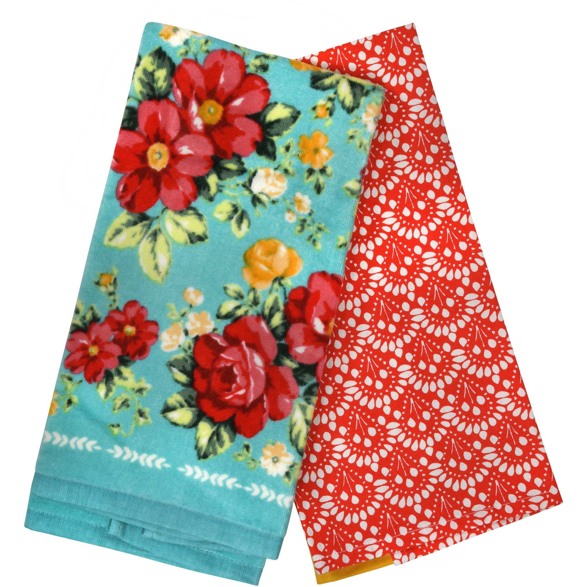 The Pioneer Woman, Vintage Floral 2pk Kitchen Towel set