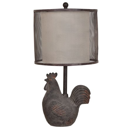 Rust Wall Lamp - Rooster 23.5-Inch Table Lamp, Rust