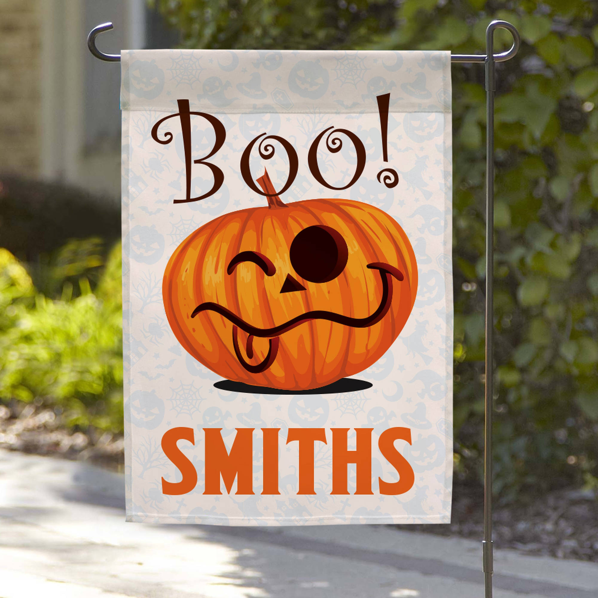 "Personalized Wacky Halloween Garden Flag, 18"" x 12"""