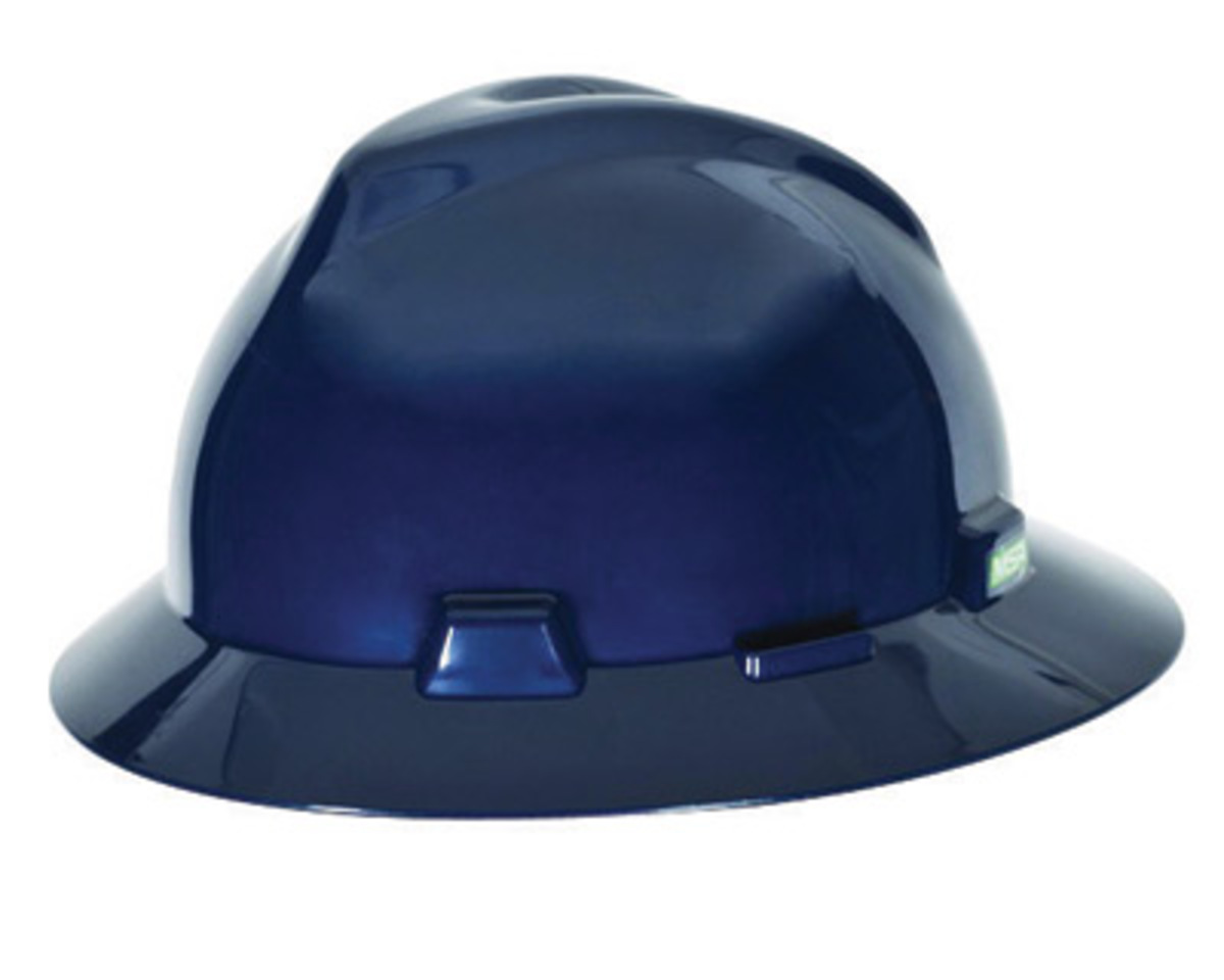 MSA Blue V-Gard Polyethylene Standard Slotted Cap Style Hard Hat With Fas Trac 4 Point... by MSA (Mine Safety Appliances Co)