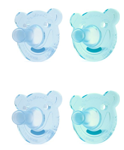 Philips Avent Ultra Soft BPA Free FlexiFit Pacifier 2 Pk 2 Ct Blue//Teal 6-18m