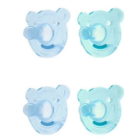 Arkansas Razorbacks Pacifier ((2 Pack) Philips Avent Soothie Pacifier, 0-3 Months, Bear-Shaped - 2 Counts )