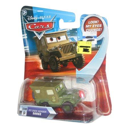 - Disney Pixar Cars 2 Movie Pit Crew Member Sarge Eyes Change Vehicle Toy Car