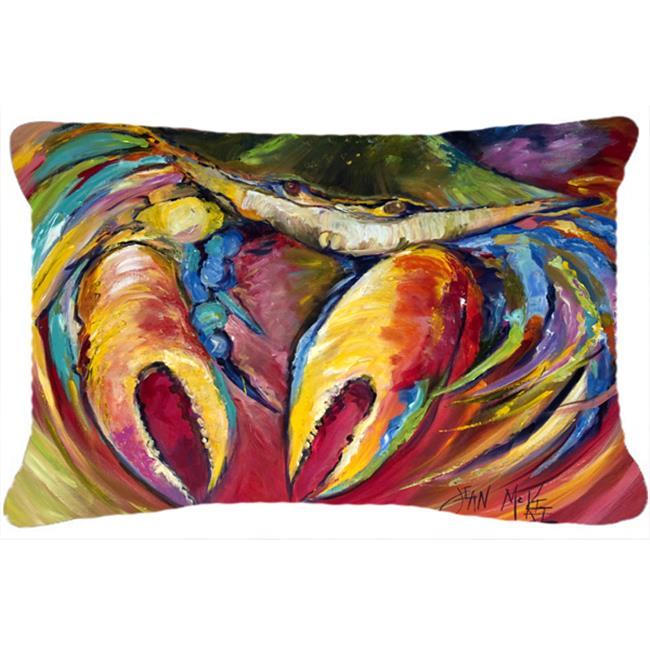 Carolines Treasures JMK1106PW1216 Blue Crab Stars Canvas Fabric Decorative Pillow - image 1 of 1