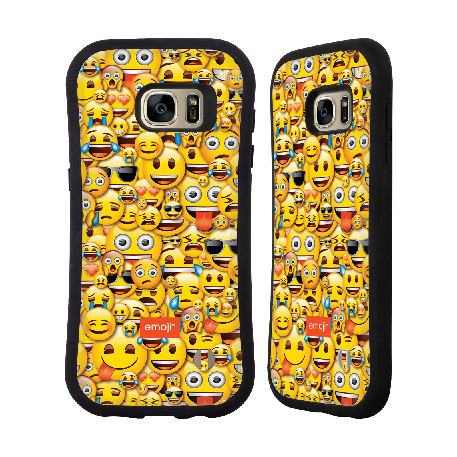 OFFICIAL EMOJI FULL PATTERNS HYBRID CASE FOR SAMSUNG PHONES