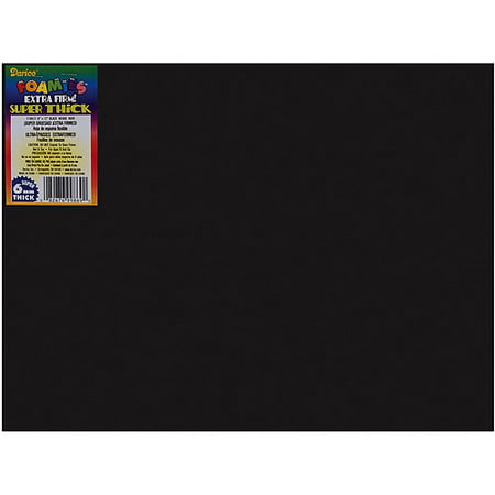 Foamies Sheet Extra Thick Black 6Mm 9X12