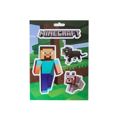 Minecraft 5x7 Steve & Pets Stickers (Minecraft Stickers)