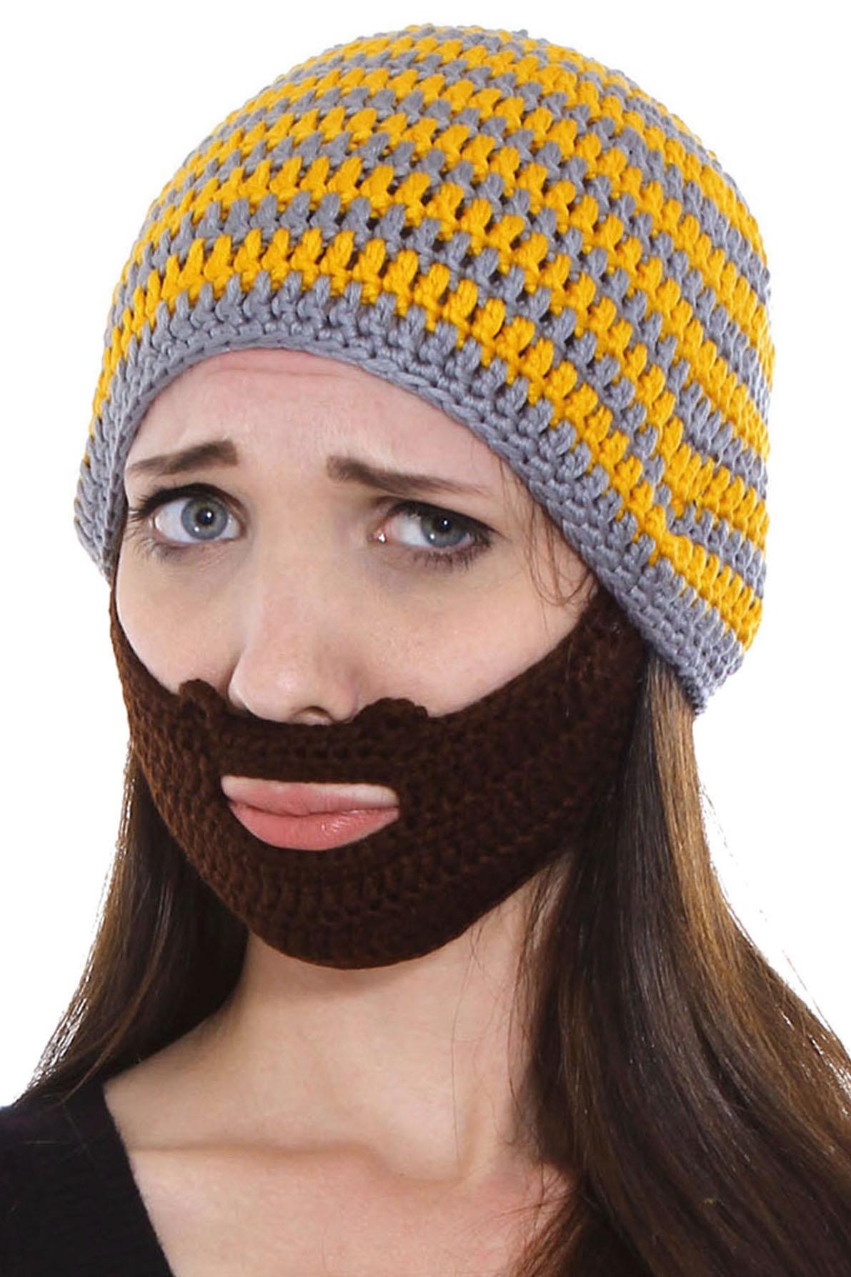 Simplicity Simplicity Beard Hat Knit Winter Beanie Mustache Mask