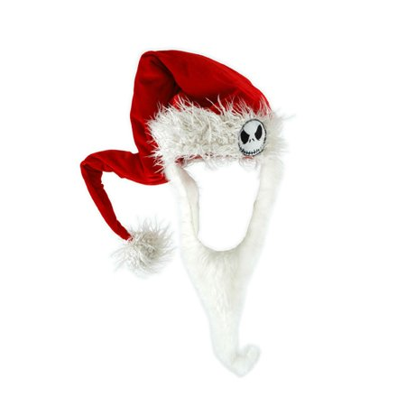 828d7730be2 The Nightmare Before Christmas Jack Costume Santa Hat   Beard Adult -  Walmart.com