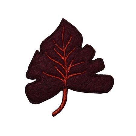 Felt Leaves (ID 7150 Felt Maple Leaf Patch Autumn Fall Nature Embroidered Iron On)