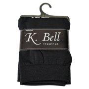 K. Bell Womens Fleece Lined Footless Legging, M/L, Black