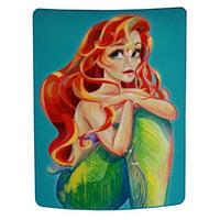 "Disney's Little Mermaid Ariel 46"" x 60"" Plush Fleece Large Throw Blanket"