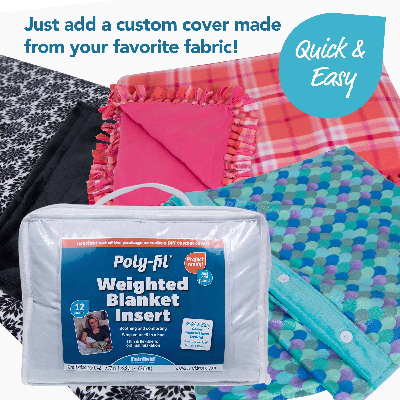 Poly Fil Weighted Blanket Insert 42 X 72 12lb Walmart Com Walmart Com