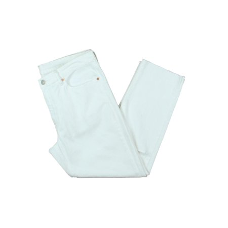 Polo Ralph Lauren Womens Destroyed High Rise Cropped Jeans