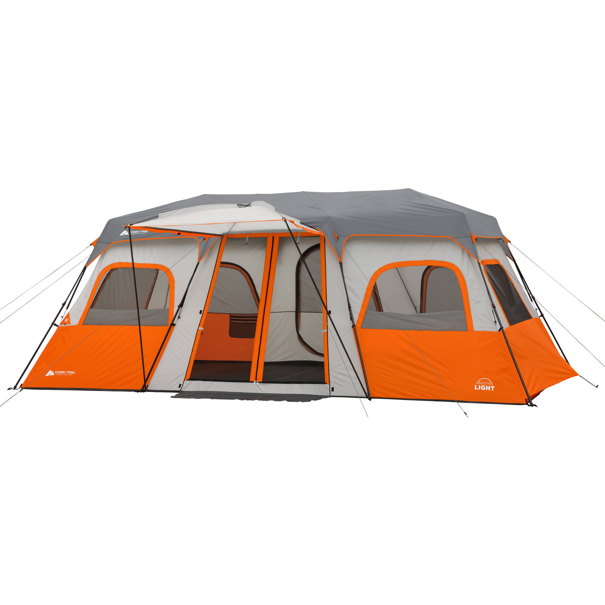 Ozark Trail 18  x 10u0027 Instant Cabin Tent with Integrated Led Light Sleeps  sc 1 st  Walmart & Ozark Trail 18