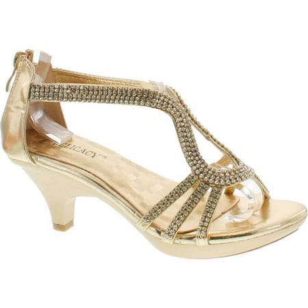 - Delicacy Angel 36 Women Dress Sandal Rhinestone Low Heel Pumps