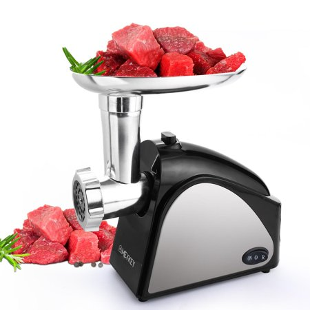 Electric Meat Grinder 2000W, Food Meat Grinders with 3 Stainless Grinding Plates and Sausage Stuffing Tubes for Home Use &Commercial, Dishwasher safe (The Best Meat Grinders For Home Use)