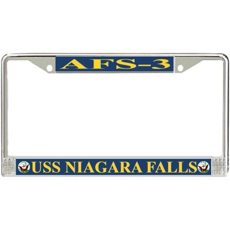 USS Niagara Falls AFS-3 License Plate - Niagara Falls Plate
