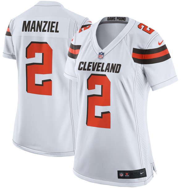 Johnny Manziel Cleveland Browns Nike Women's Game Jersey - White