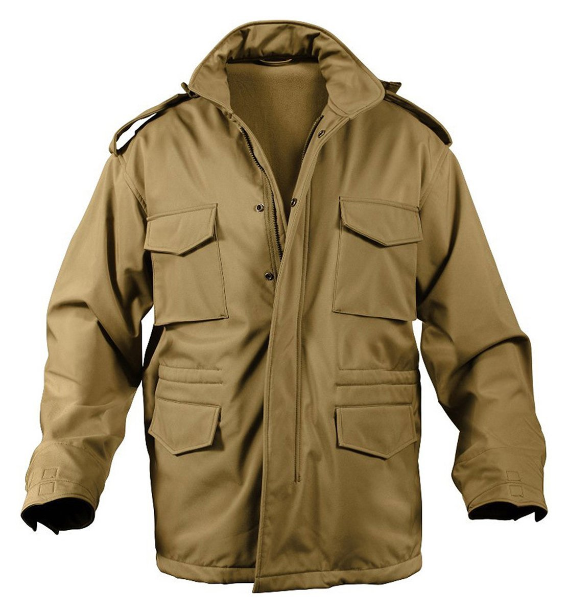 Rothco Soft Shell Tactical M-65 Field Jacket - Coyote Brown, 2X-Large