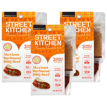 Image of (3 Pack) Street Kitchen Mexican 'Barbacoa' Bbq Beef Mexican Scratch Kit, 10.5 oz