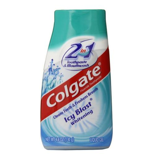 Colgate 2-in-1 Toothpaste and Mouthwash, Whitening, Icy Blast 4.60 oz (Pack of 4)