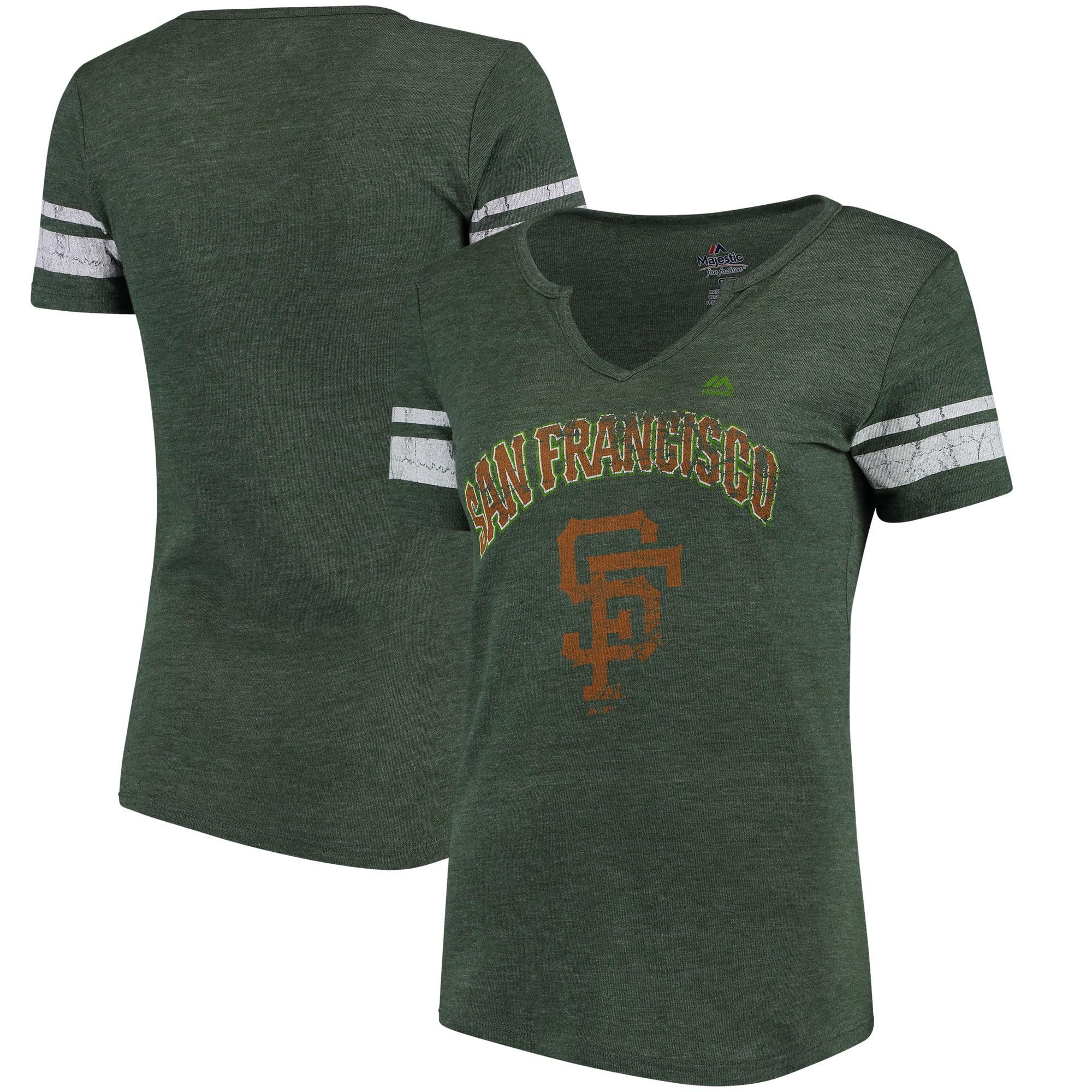 San Francisco Giants Majestic Women's Celtic 'Tude Notch Neck Tri-Blend T-Shirt - Green