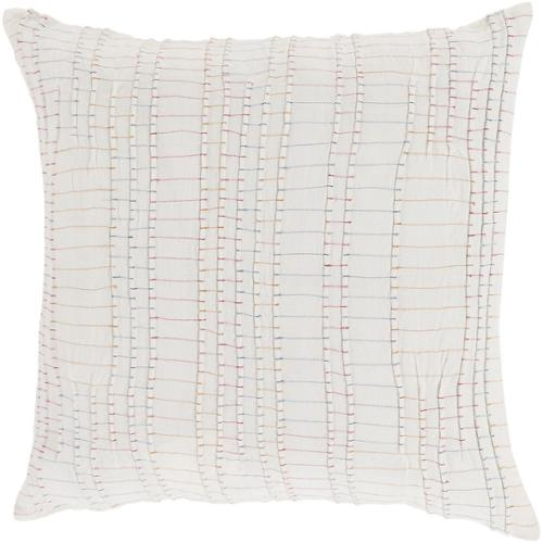 Decorative Ballina 20-inch Poly or Down Filled Throw Pillow Down - Pink