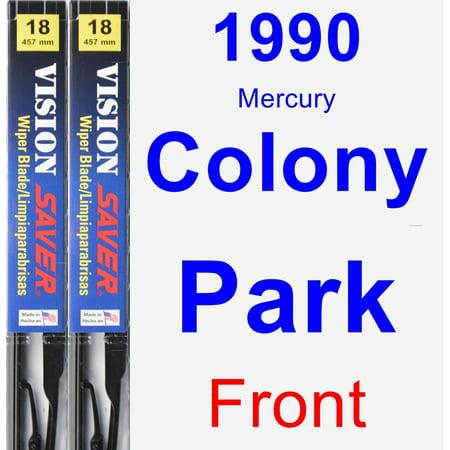 1990 Mercury Colony Park Wiper Blade Set/Kit (Front) (2 Blades) - Vision Saver