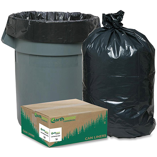 Earthsense Commercial Low Density Can Liners, Black, 10 gal, 500 count