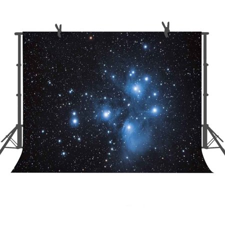 GreenDecor Polyster Background 7x5ft Night Starry Sky Photography Backdrop Studio Photo Props