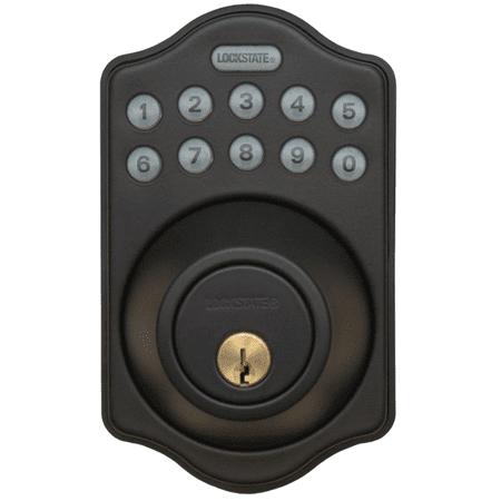 Lockstate Remotelock 5I Rubbed Bronze Aspen Electronic Deadbolt Lock