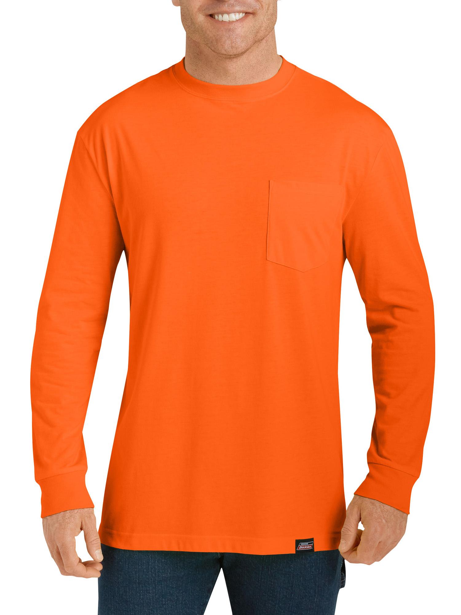 Short Sleeve WRANGLER Mens 3W700SO Cotton SAFETY ORANGE T XL TALL