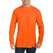 Big and Tall Men's Long Sleeve Enhanced Visibility T-Shirt, 2-Pack