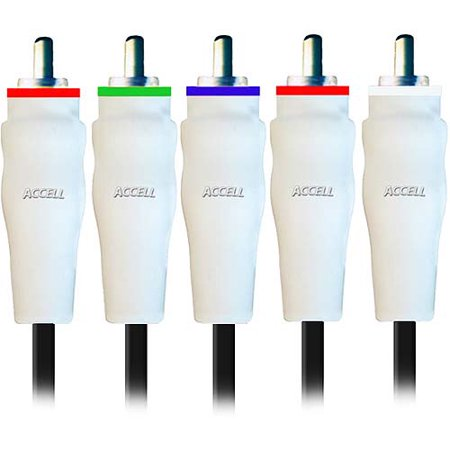 Accell B043A-010B-2 Component Video and Stereo Audio Cables (10 Feet/3 Meter)