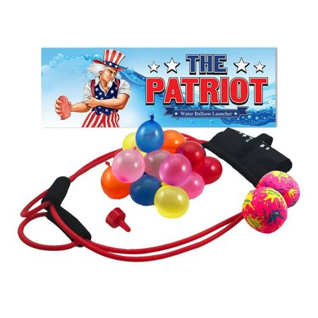 Patriot Party (The Patriot Water Balloon Launcher / 200 Yards Slingshot / Includes 2 Splash Balls, Quick Fill Nozzle, 50 Bio)