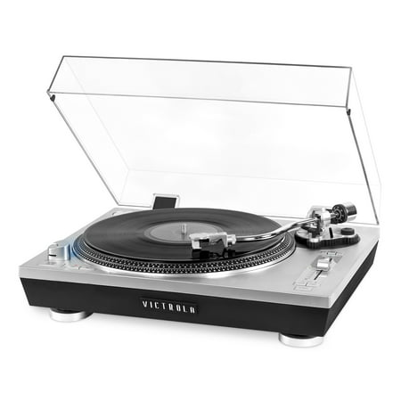 Victrola Pro Series USB Record Player with 2-Speed Turntable and Dust