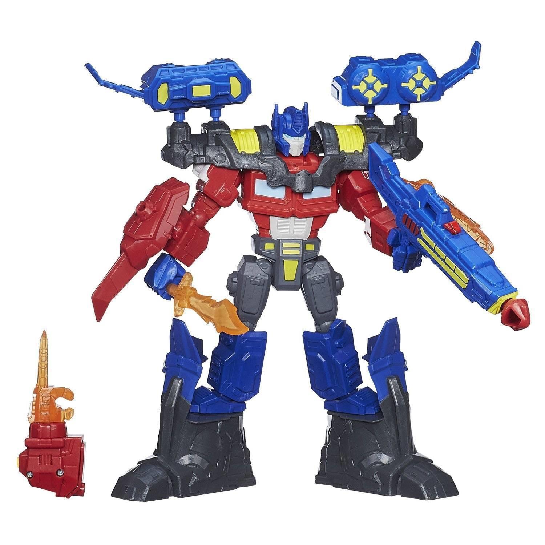 transformers hero mashers electronic optimus prime figure - walmart
